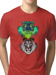 Tigers And Lions In Colour Tri-blend T-Shirt