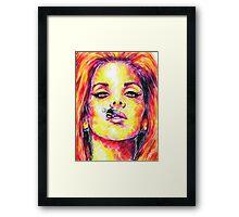 BEE STUNG LIPS / Lana Del Rey Framed Print