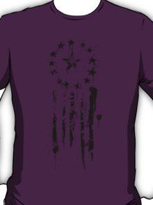 Old World Flag- Black T-Shirt
