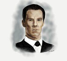 Benedict Cumberbatch as Sherlock Holmes by vclauart