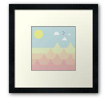 Bird-rise Mountain  Framed Print