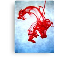 Red Ink in Water Canvas Print