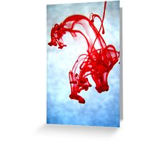 Red Ink in Water Greeting Card