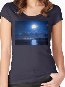 moonlight bay Women's Fitted Scoop T-Shirt
