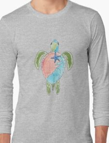 Earth Sea Turtle  Long Sleeve T-Shirt