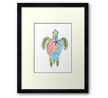 Earth Sea Turtle  Framed Print