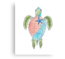 Earth Sea Turtle  Canvas Print