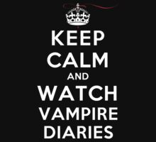 Keep Calm and Watch Vampire Diaries (DS) by rachaelroyalty