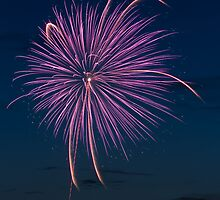 Purple Pyrotechnic by Kenneth Keifer