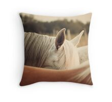 Quarter Horse Ears Throw Pillow
