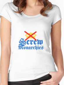 Screw Monarchies-Corona Extra Women's Fitted Scoop T-Shirt