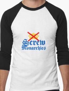 Screw Monarchies-Corona Extra Men's Baseball ¾ T-Shirt