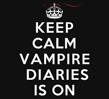 Keep Calm Vampire Diaries Is On (DS) Womens Fitted T-Shirt