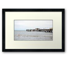 One Off the Pier Framed Print