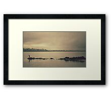 Gloomy Bay Framed Print