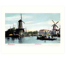 Vintage Rotterdam Achterhaven 1890 Art Print