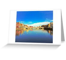 Cork City Lee View 001  Greeting Card