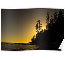 Tsusiat Sunset - West Coast Trail, Vancouver Island, Canada Poster