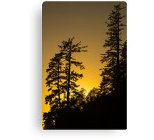 Tsusiat Sunset II - West Coast Trail, Vancouver Island, Canada Canvas Print