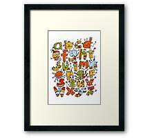 Little Alphabet Monsters Framed Print