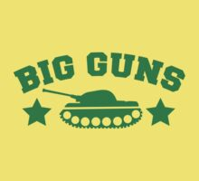 BIG GUNS with military tank weapon by jazzydevil