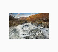 Barrow Beck in full spate at Ashness Bridge in the English Lake District Unisex T-Shirt