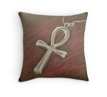 Ankh drawing Throw Pillow