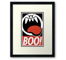 OBEY BOO! Framed Print