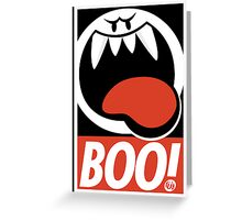 OBEY BOO! Greeting Card