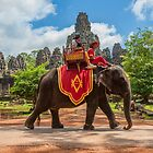 Bayon Temple Elephants by Karen Willshaw