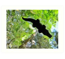Alligator from below! Art Print
