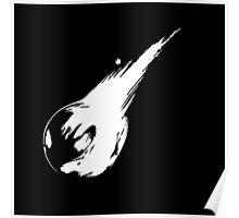 Final Fantasy VII logo minimal white Poster