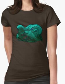 Octopus (Blue) Womens Fitted T-Shirt
