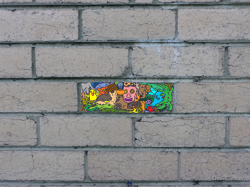 Just another brick in the wall by David Fraser
