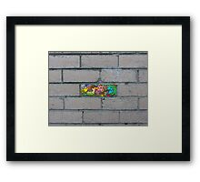 Just another brick in the wall Framed Print