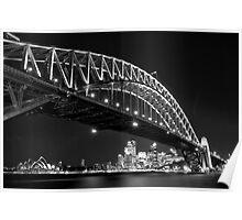 Nightfall, Sydney Harbour Bridge Poster