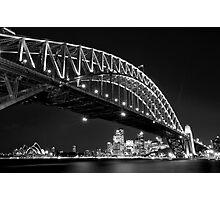 Nightfall, Sydney Harbour Bridge Photographic Print