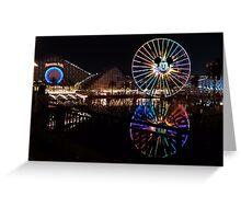 Disneyland at Night Greeting Card