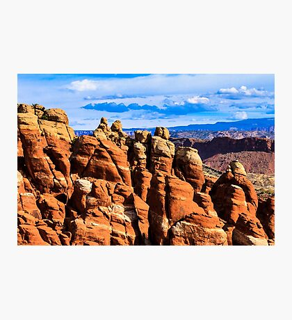 Arches National Park Fiery Furnace Detail Photographic Print