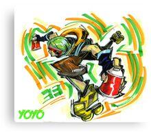 Jet Set Radio fanart : Yoyo Canvas Print