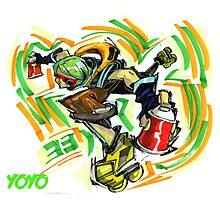 Jet Set Radio fanart : Yoyo Photographic Print