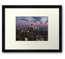 New York, Empire State Building at Dusk Framed Print