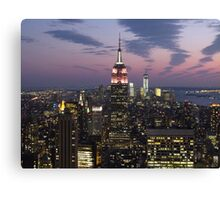 New York, Empire State Building at Dusk Canvas Print