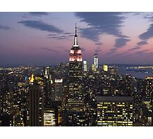 New York, Empire State Building at Dusk Photographic Print