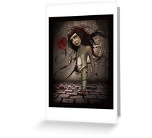 Toy- Broken Doll Greeting Card