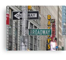 New York Street Signs Canvas Print