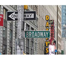 New York Street Signs Photographic Print
