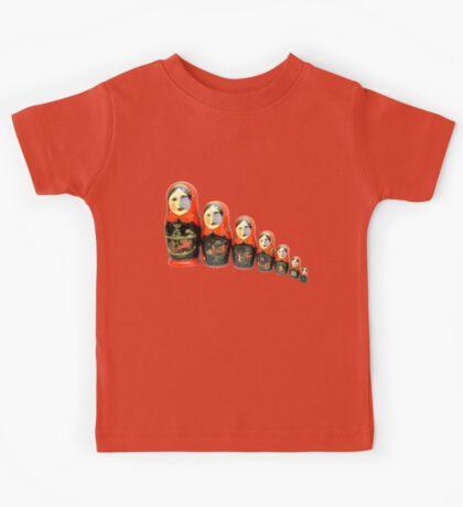 Paxochka Twitter Matryoshka Doll Kids Tee