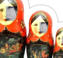 Paxochka Twitter Matryoshka Doll Sticker
