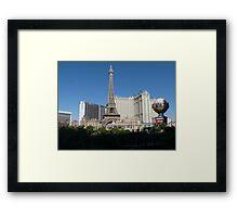 Las Vegas Skyline Framed Print